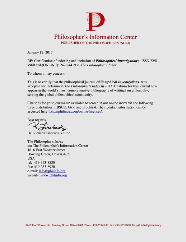 Philosophers,s Index